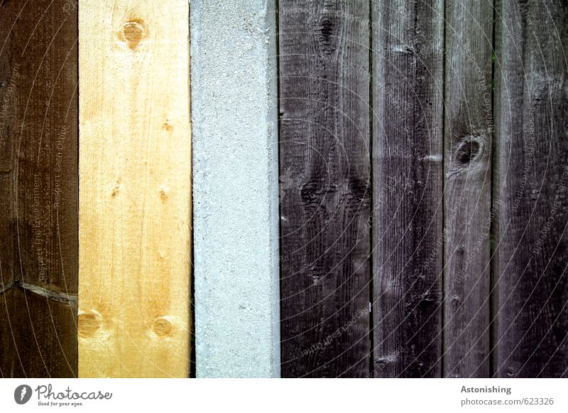 wood Saw Wall (barrier) Wall (building) Facade Wood Stand Old Firm Uniqueness New Beautiful Town Brown Yellow Gray Black Line Wooden board Wooden fence Knothole