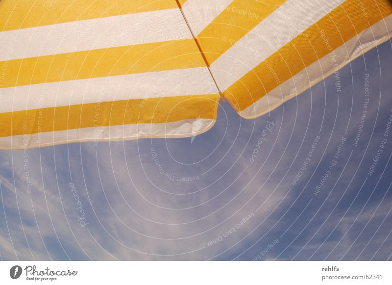 Sky Ocean Beach Vacation & Travel Clouds Stripe Sunshade Striped Cirrus