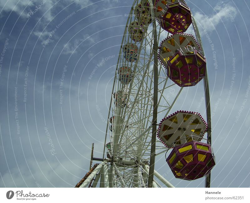 ...freedom must be boundless. Clouds Ferris wheel Fairs & Carnivals Festival Sky Feasts & Celebrations Joy
