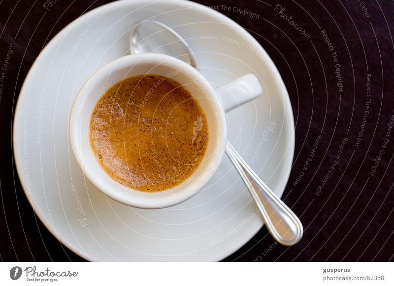 Coffee Black Brown Sweet Café Delicious Cup Sugar Foam Espresso Spoon Saucer