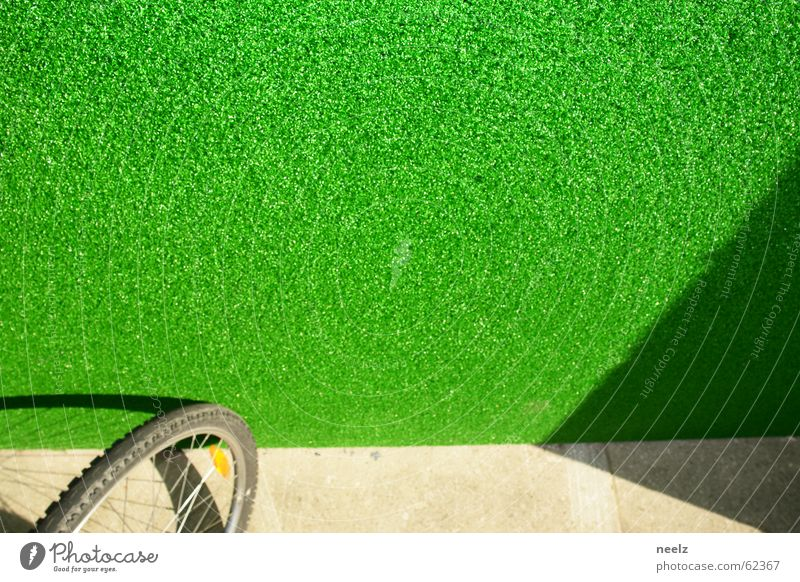 Green Bicycle Lawn Leipzig Saxony Artificial lawn