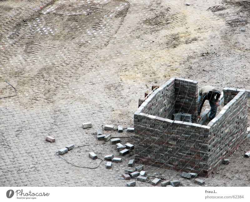 House (Residential Structure) Wall (building) Playing Stone Future Creativity Build Practice