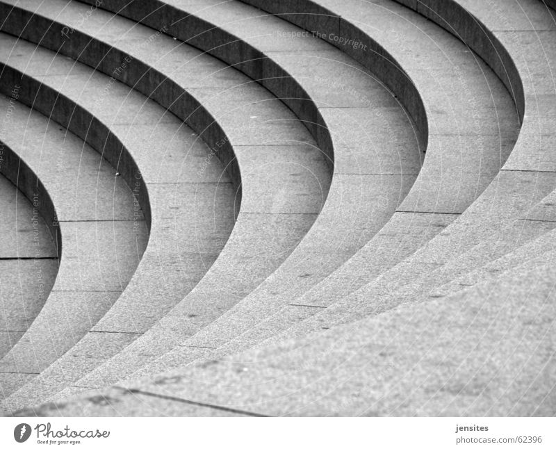 Movement Stone Stairs Corner Round Dynamics Curve