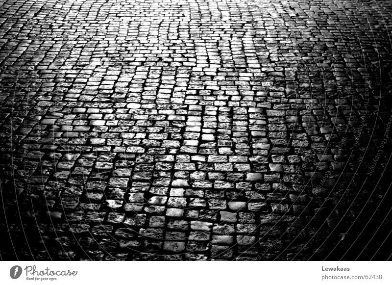 cobblestone Black White Light Floor covering Town Ancient Nostalgia Mirror Beautiful Fortress Nuremberg Stone Shadow Old Old town Reflection Medieval times