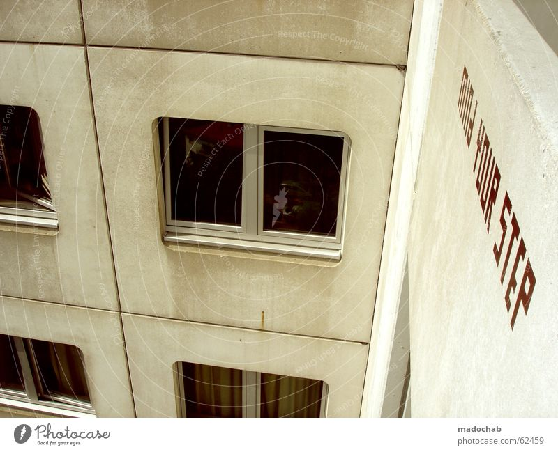 City Red House (Residential Structure) Life Wall (building) Window Gray Jump Wall (barrier) Building Germany Room Flat (apartment) Concrete High-rise