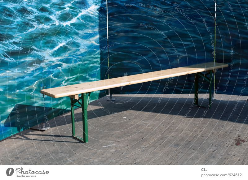 sea view Vacation & Travel Tourism Summer vacation Water Beautiful weather Waves Ocean Sit Gloomy Longing Wanderlust Loneliness Boredom Perspective Whimsical