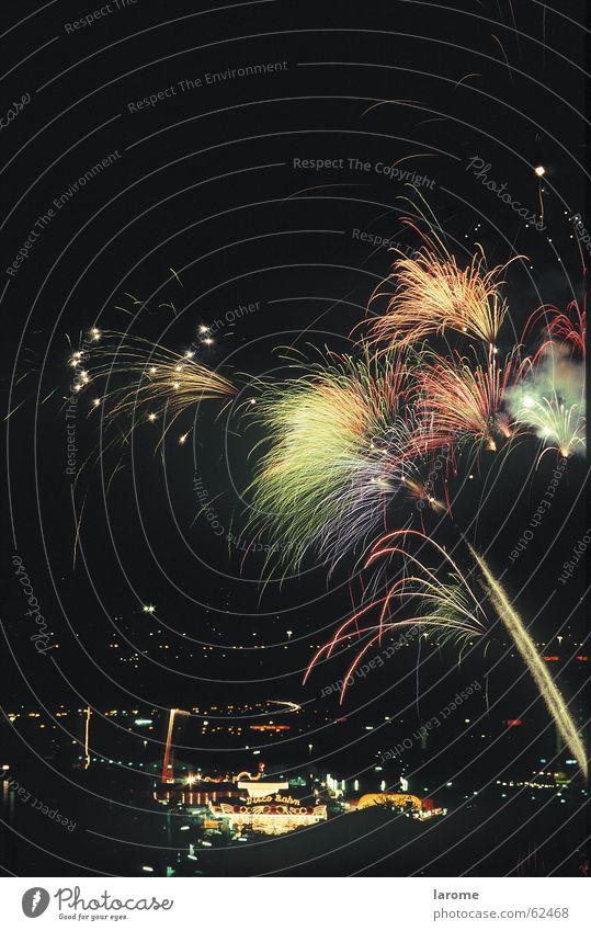 fireworks Linz (Danube) Night Fairs & Carnivals Tracer path Firecracker urfahraner market