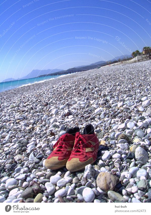 beach shoes Ocean Cold Footwear Turkey Gray Loneliness Mountain Blue Stone Rough
