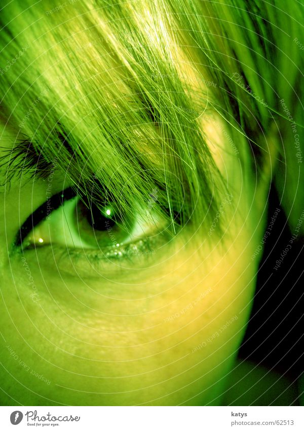 Look green Green Dark green Bright green Beautiful Curiosity Facial expression Short Strand of hair Pupil Far-off places Black Round Eyebrow Brown
