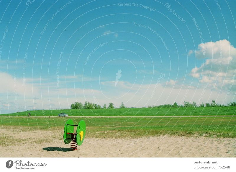 movement - go! Meadow Animal Playground Green White Brown Yellow Car Sand Landscape Blue Silver Shadow