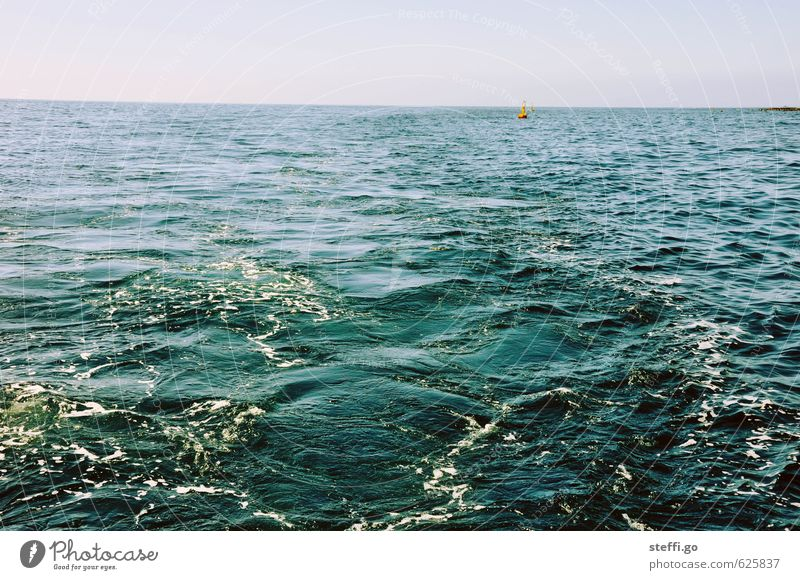 Vacation & Travel Blue Water Summer Ocean Loneliness Relaxation Far-off places Freedom Swimming & Bathing Horizon Glittering Waves Perspective Trip Observe