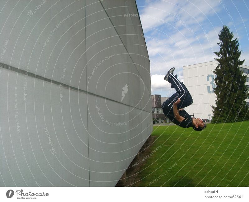Sports Jump Movement Wall (barrier) Flying 3 Aviation Break To fall Brave Hero Respect Stagnating Rotation High spirits