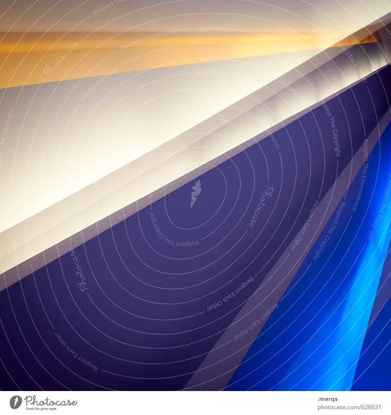 ruled Lifestyle Elegant Style Design Interior design Architecture Wall (barrier) Wall (building) Line Sharp-edged Hip & trendy Modern Crazy Blue Yellow Violet
