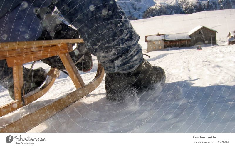 Joy Winter Snow Footwear Speed Haste Farm Switzerland Downward Winter sports Brakes Sleigh Ski run Blade Downward slide Sledding