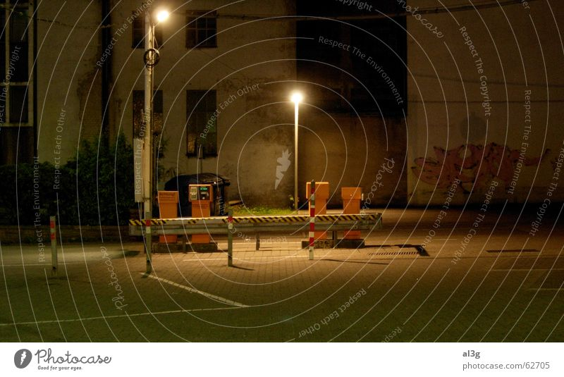 hoppers friends Night Stage Street lighting Parking lot Think cash machine Empty