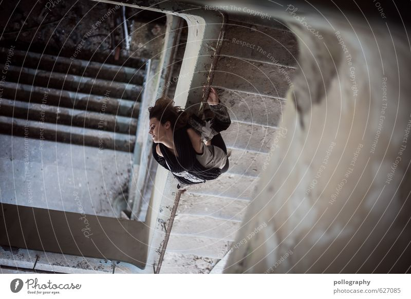 twisted world (2) Lifestyle Human being Feminine Young woman Youth (Young adults) Woman Adults Body 1 18 - 30 years Wall (barrier) Wall (building) Stairs