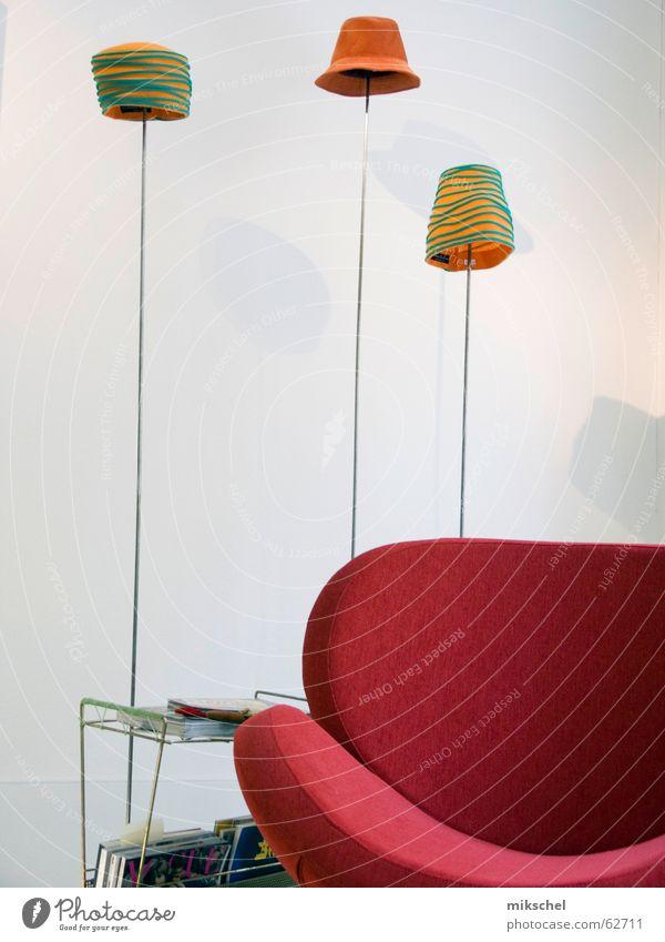 Green Red Lamp Orange Art Design Break Retro Hat Craft (trade) Armchair Exhibition Designer
