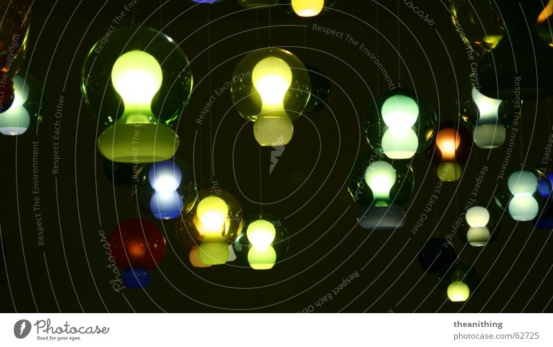 *light games* Light Lamp Hang Dark Bright Visual spectacle Round Electric bulb Colour Structures and shapes