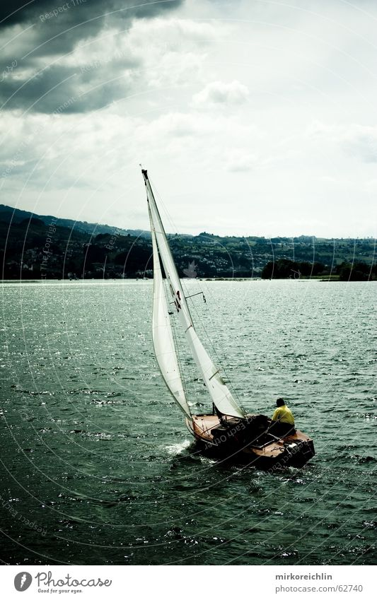 Ocean Clouds Loneliness Sports Dark Lake Watercraft Power Fear Wind Speed Threat Gale Sailing Sailboat