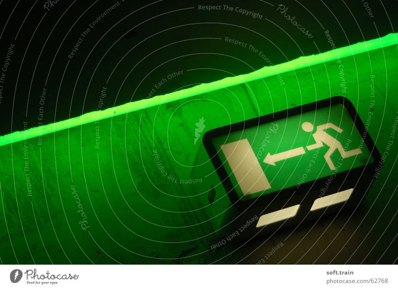 Green Symbols and metaphors Escape Staircase (Hallway) Way out Icon
