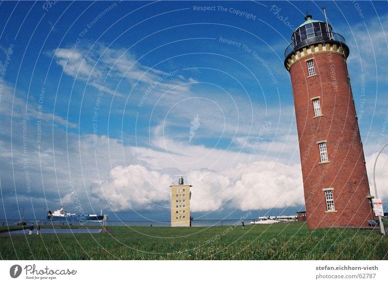 Cuxhaven Lighthouse Watercraft Elbe estuary
