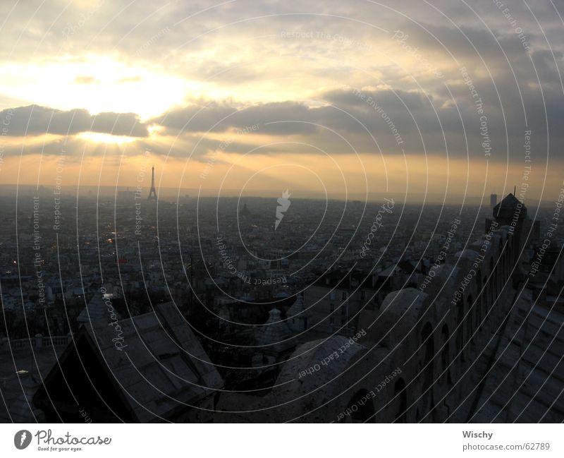 Sunset over Paris Horizon Evening effile tower