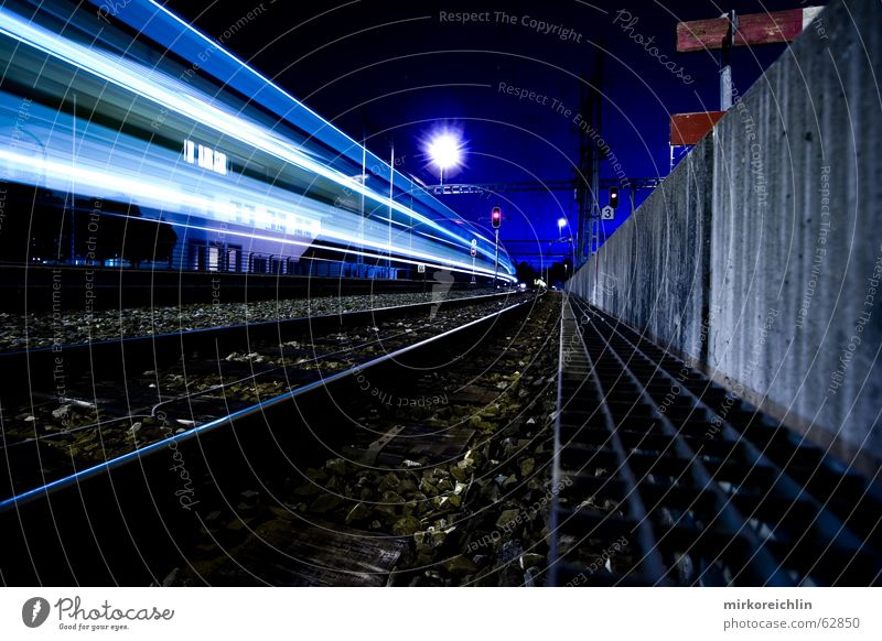 Blue Lighting Railroad Speed Long