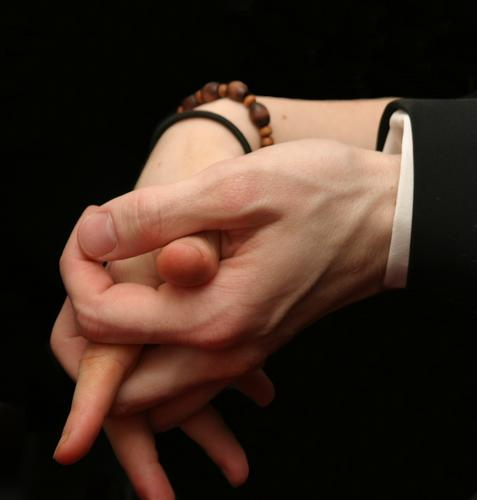 Together Joy Happy Human being Woman Adults Man Couple Partner Hand Fingers 2 To hold on Love Embrace Near Trust Safety Protection Safety (feeling of) Agreed