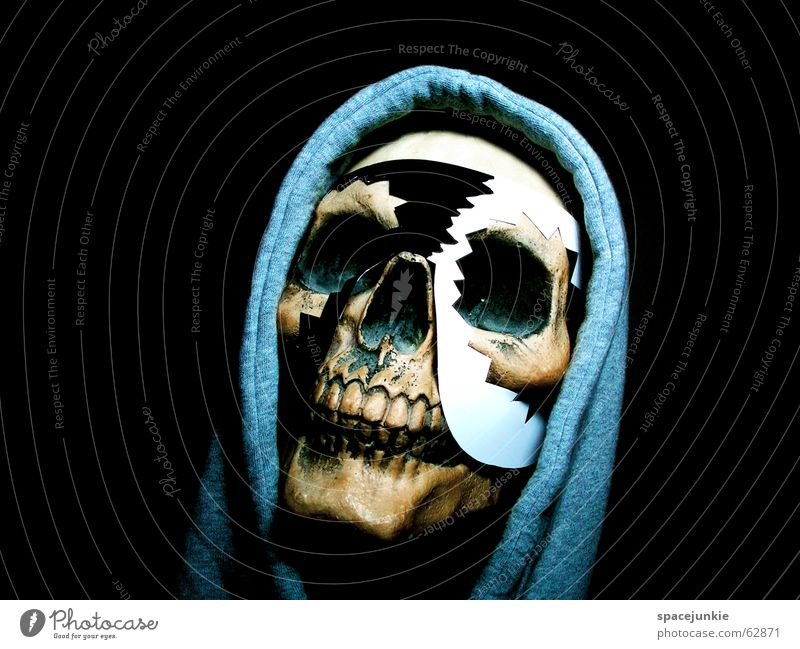 White Black Dark Art Crazy Africa Mask Freak Tradition Hooded (clothing) Magic Skeleton Death's head Magician Hooded sweater Obsessed