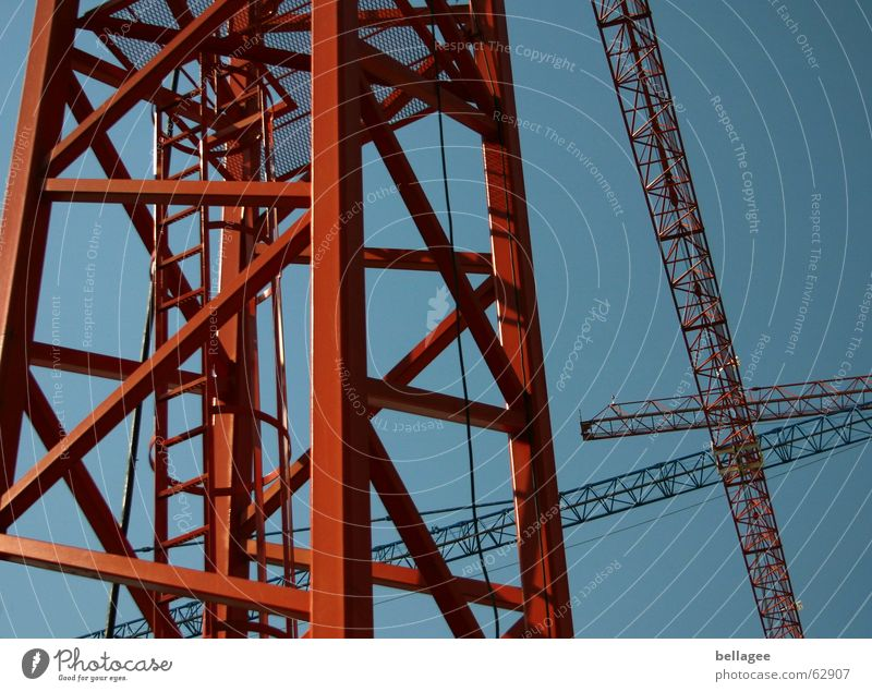 Sky Blue Level Gate Steel Ladder Construction Crane Motionless Scaffold Cross Zigzag Stability Construction crane
