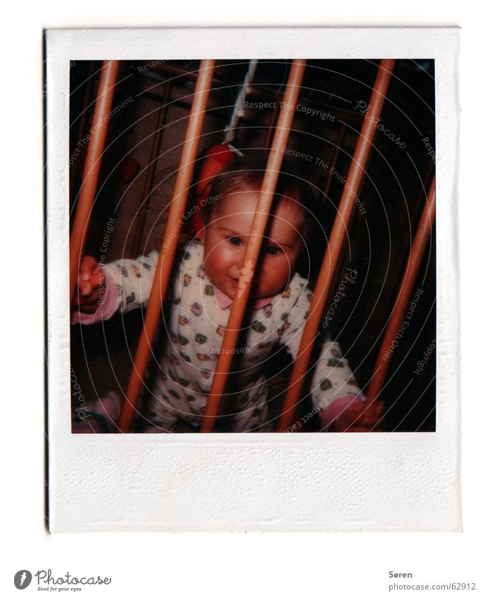 Child Fear Small Sweet Captured Old-school Polaroid Pyjama