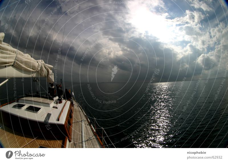 Sky Sun Ocean Clouds Sports Wood Lake Watercraft Metal Action Sailing Distorted Parking level Railing Plank