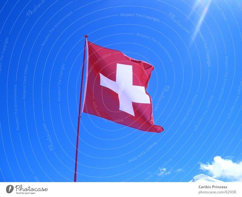 Sky Sun Flag Switzerland Beautiful weather