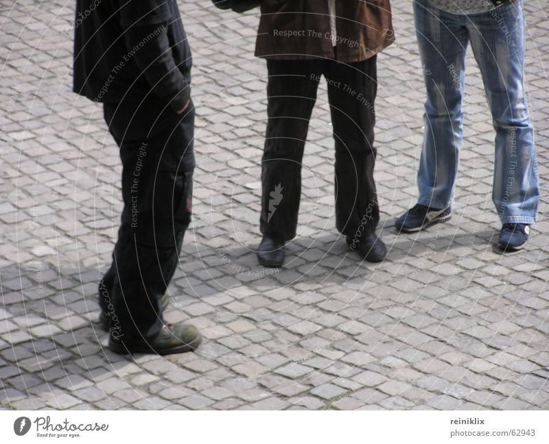 waiting Places Stand Footwear Legs Wait Paving stone