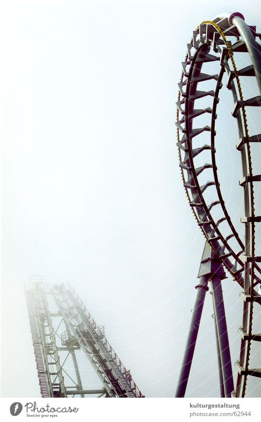 Joy Vacation & Travel Dark Fog Dangerous USA Leisure and hobbies Fairs & Carnivals Carousel Roller coaster Amusement Park