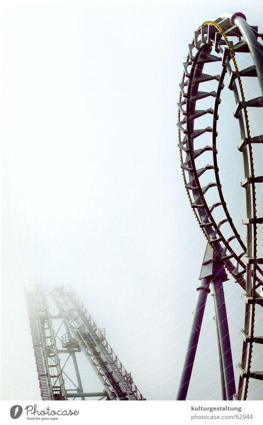 Joy Vacation & Travel Dark Fog Dangerous USA Leisure and hobbies Fairs & Carnivals Carousel Roller coaster Amusement Park