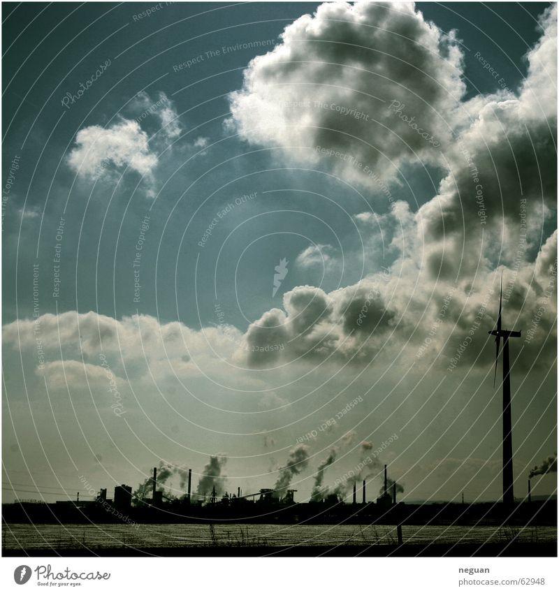 himmels_landscape Clouds Summer Work of art Wind energy plant Sky