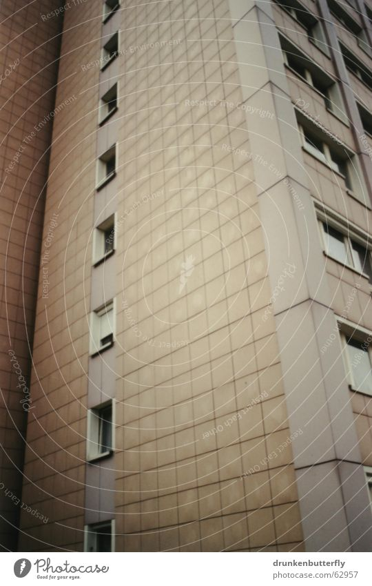 House (Residential Structure) Window High-rise Corner Gloomy Tile New building