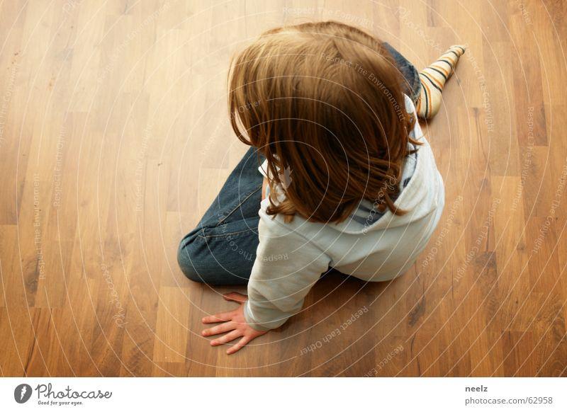 liliput 2 Floor covering Brown Wood Child Sit Looking