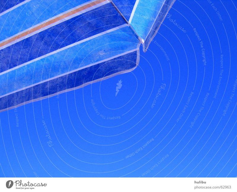 Sky Blue Summer Beach Vacation & Travel Warmth Physics Stripe Sunshade
