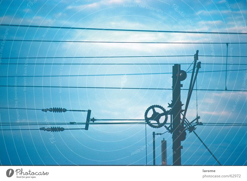 Sky Blue Railroad Energy industry Electricity Transmission lines Overhead line