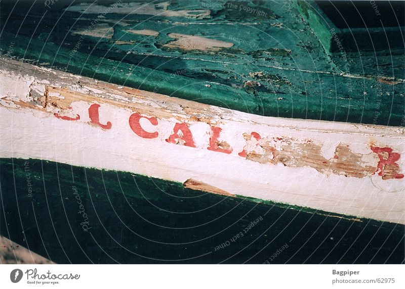 Signs of the times Watercraft Red Green White Spain Wreck Colour Old Characters