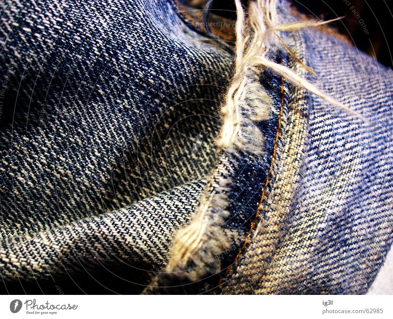 Old White Blue Black Colour Dark Legs Waves Dirty Poverty Rope Perspective Modern New Jeans Near