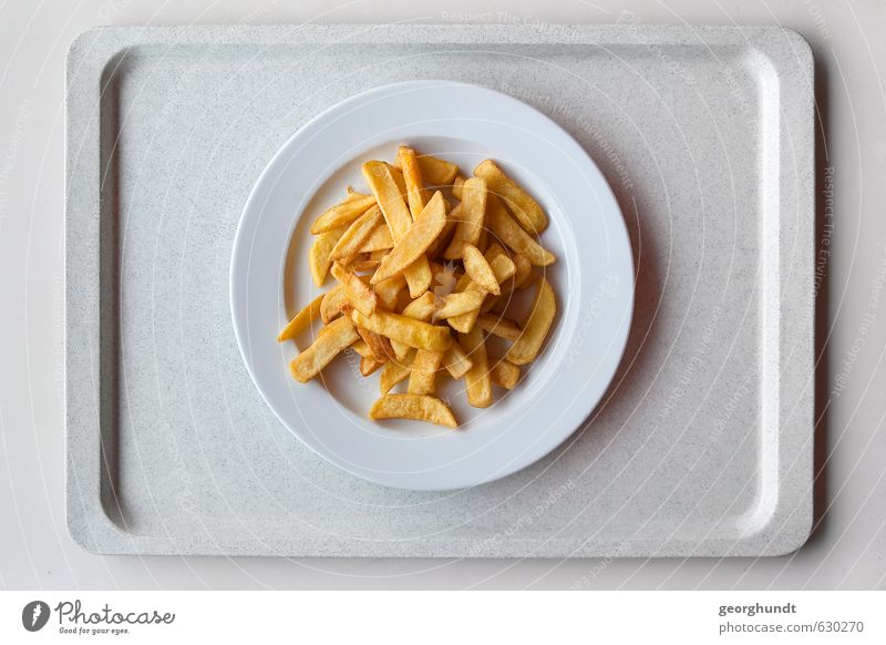 Mensa: healthy yellow-yellow-plate mixture Food Side dish French fries Nutrition Eating Lunch Crockery Plate Tray Overweight Table Kitchen Restaurant School