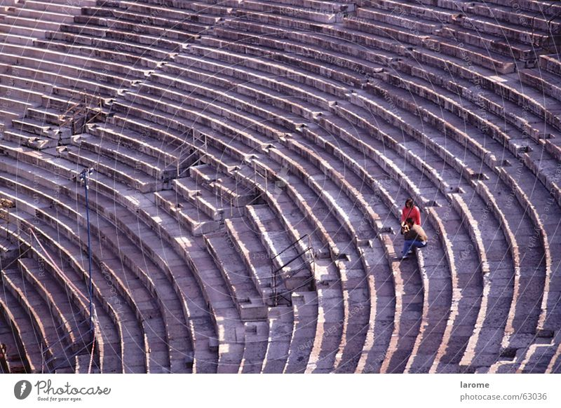 couple Italy Verona Woman Man Ancient Human being Arena Structures and shapes Loneliness Theatre