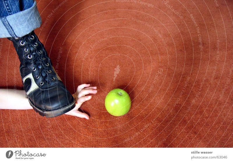 Hand Green Blue Watercraft Brown Apple Appetite Tread Footstep