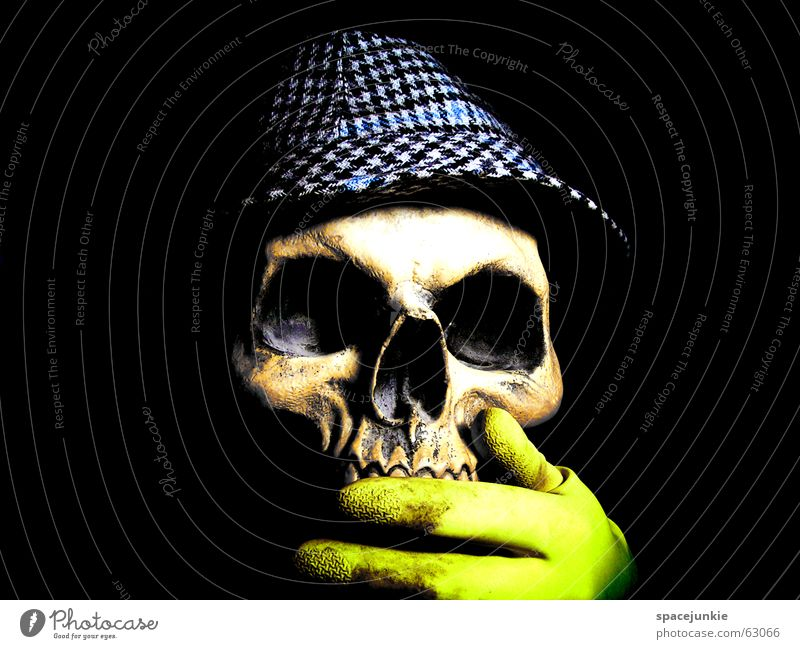 Voodoo (4) Skeleton Freak Black White Dark Magic Black Magic Obsessed Africa Magician Art Typesetter Crazy Hand Yellow Death's head Tradition Hat rubber glove