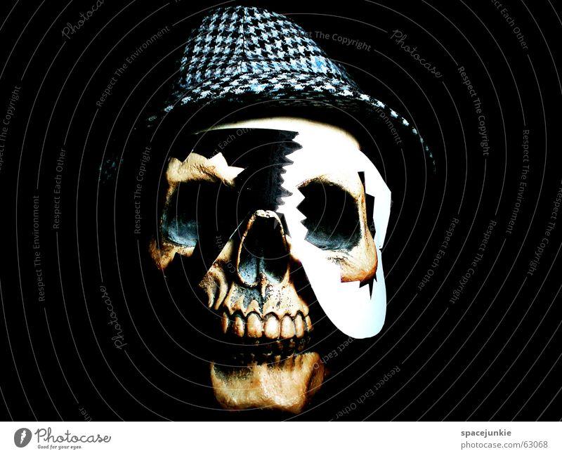 Voodoo (5) Skeleton Freak Black White Dark Magic Black Magic Obsessed Africa Magician Art Typesetter Crazy Death's head Mask Tradition Hat