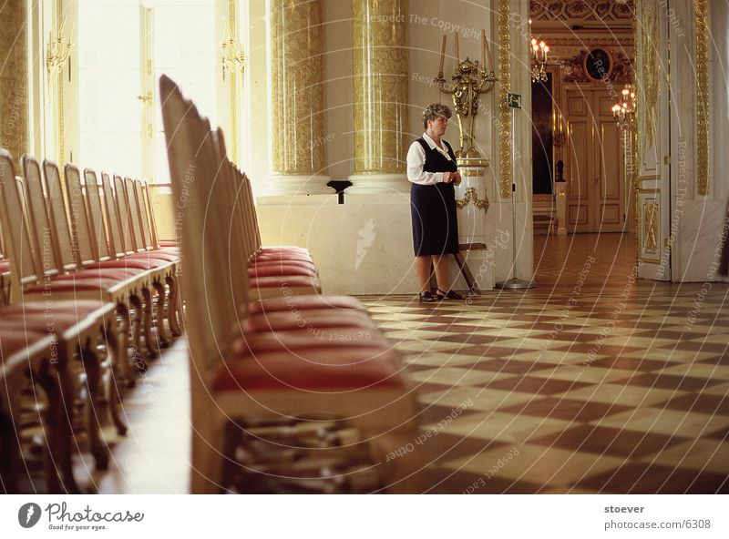 Gold Europe Lady Castle Row of seats Poland Warszaw