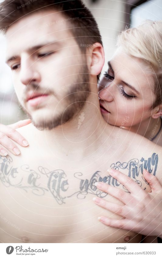 Human being Youth (Young adults) Young woman 18 - 30 years Young man Adults Feminine Exceptional Couple Masculine Esthetic Cool (slang) Uniqueness Tattoo